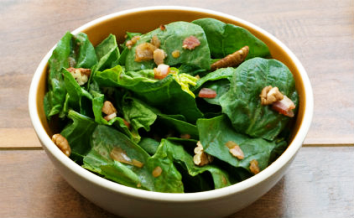 low calories spinach